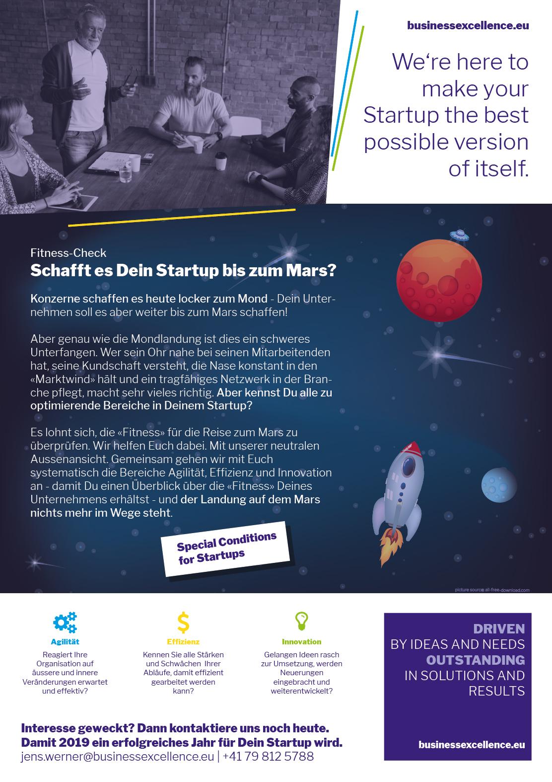 Ist Dein Startup fit für eine Reise zum Mars?