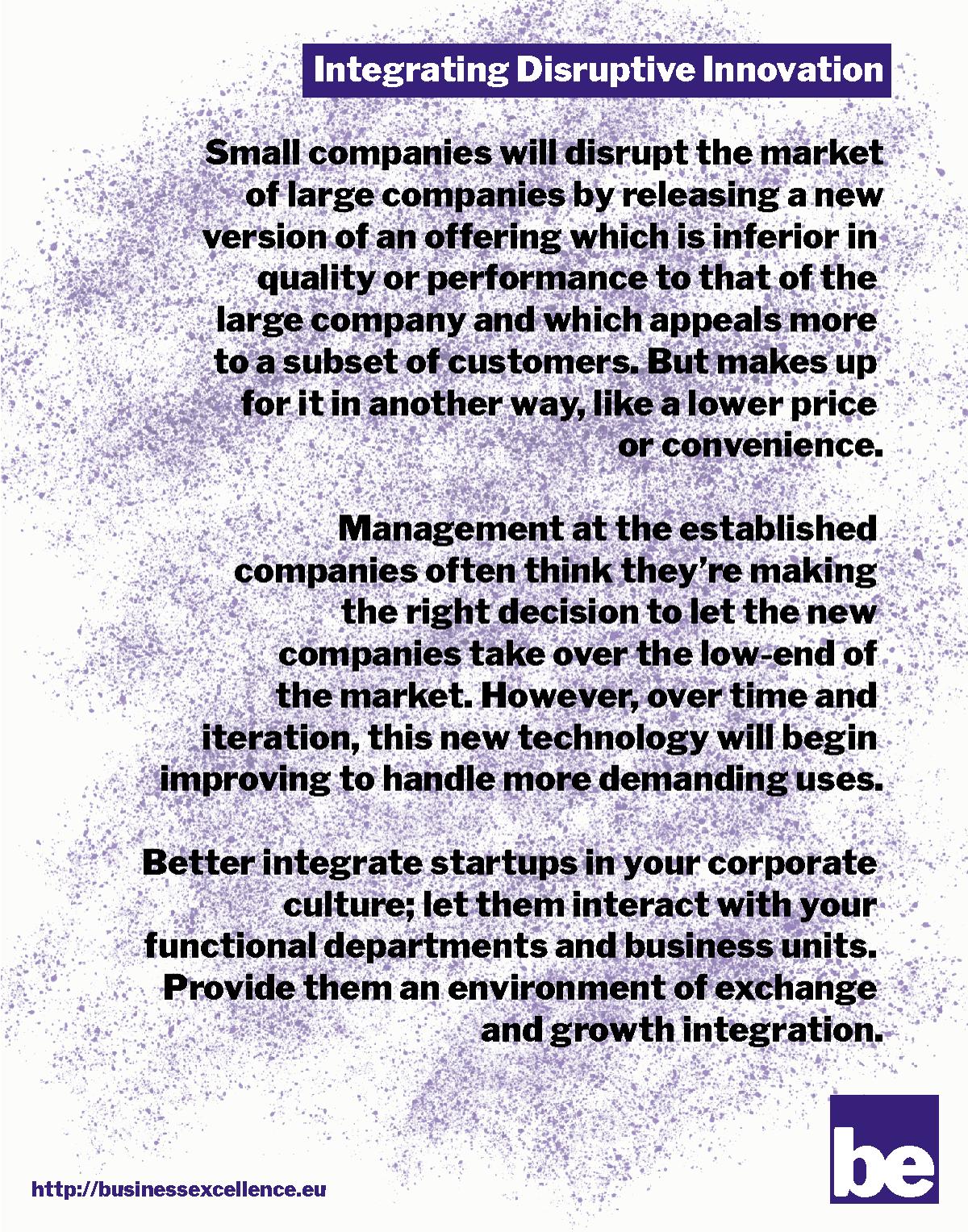 Integrating Disruptive Innovation