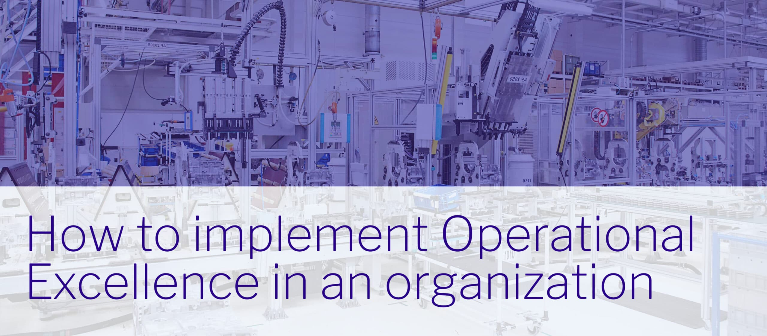 How to implement Operational Excellence in an organization